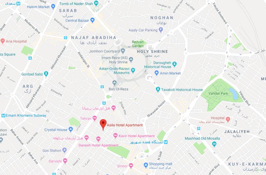 هتل آپارتمان اصیلا در مشهد - تورهای اصفهان به مشهد | مشهد تریپ