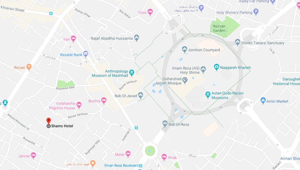 هتل شمس در مشهد - کاروان مشهد اصفهان | مشهد تریپ