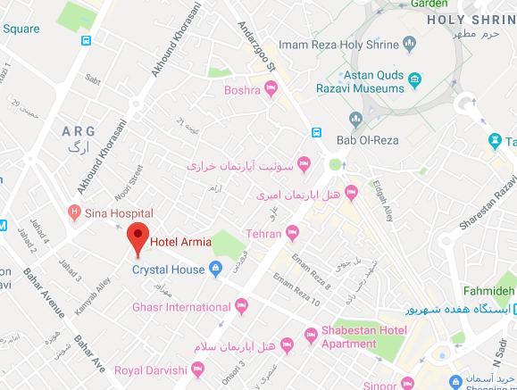 هتل آپارتمان آرمیا در مشهد - تور اصفهان مشهد | مشهد تریپ